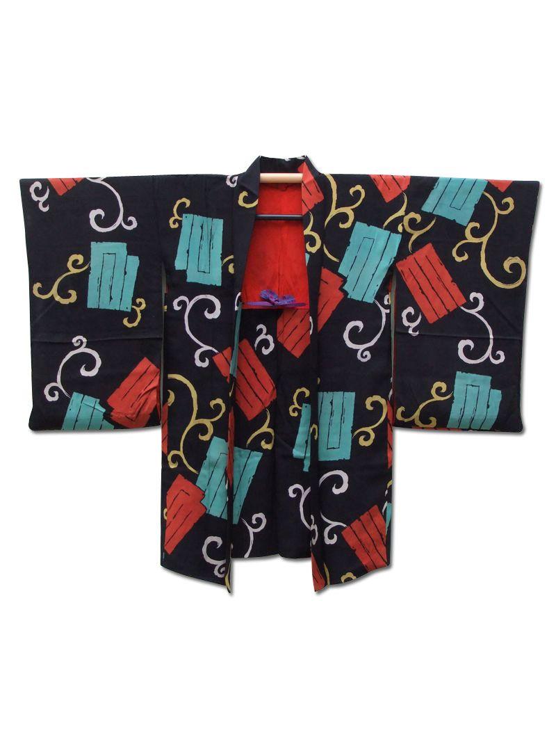 ☆ New Arrival☆ 'Snap' #blacksilk #antique #Japanese #haori #kimonojacket from #FujiKimono http://www.fujikimono.co.uk/fabric-japanese/snap.html