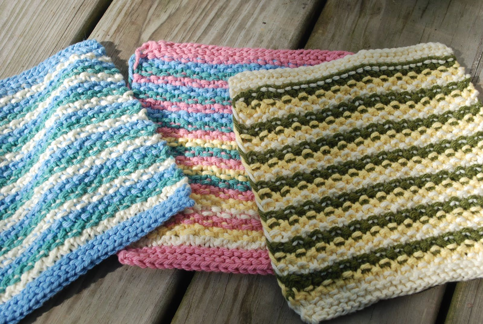 Here is the pattern for my leftovers dishcloth . worsted weight ...