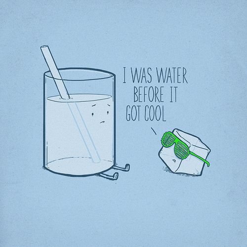 I was water before it