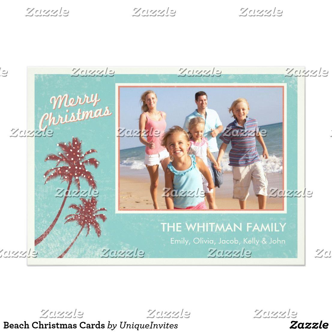 Beach Christmas Cards | Beach christmas cards, Beach christmas and ...