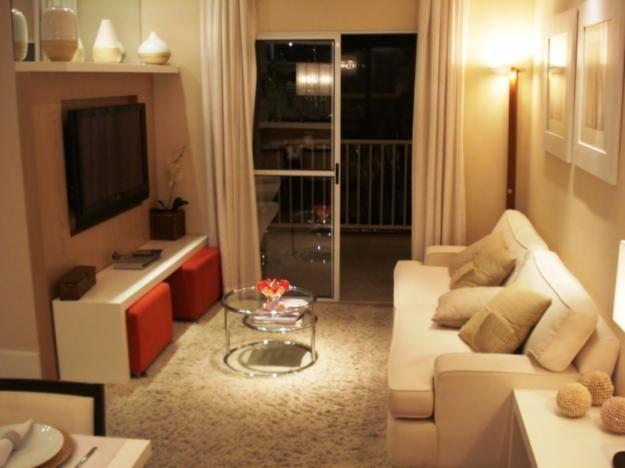 Decorar kitnet alugada decora o apto pequeno apto e salas for Decoracion sala apartamento pequeno