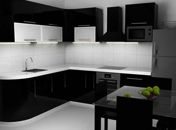 Dise os de cocinas negras para la cocina pinterest kitchenette house projects and ideas para - Cocinas negras ...