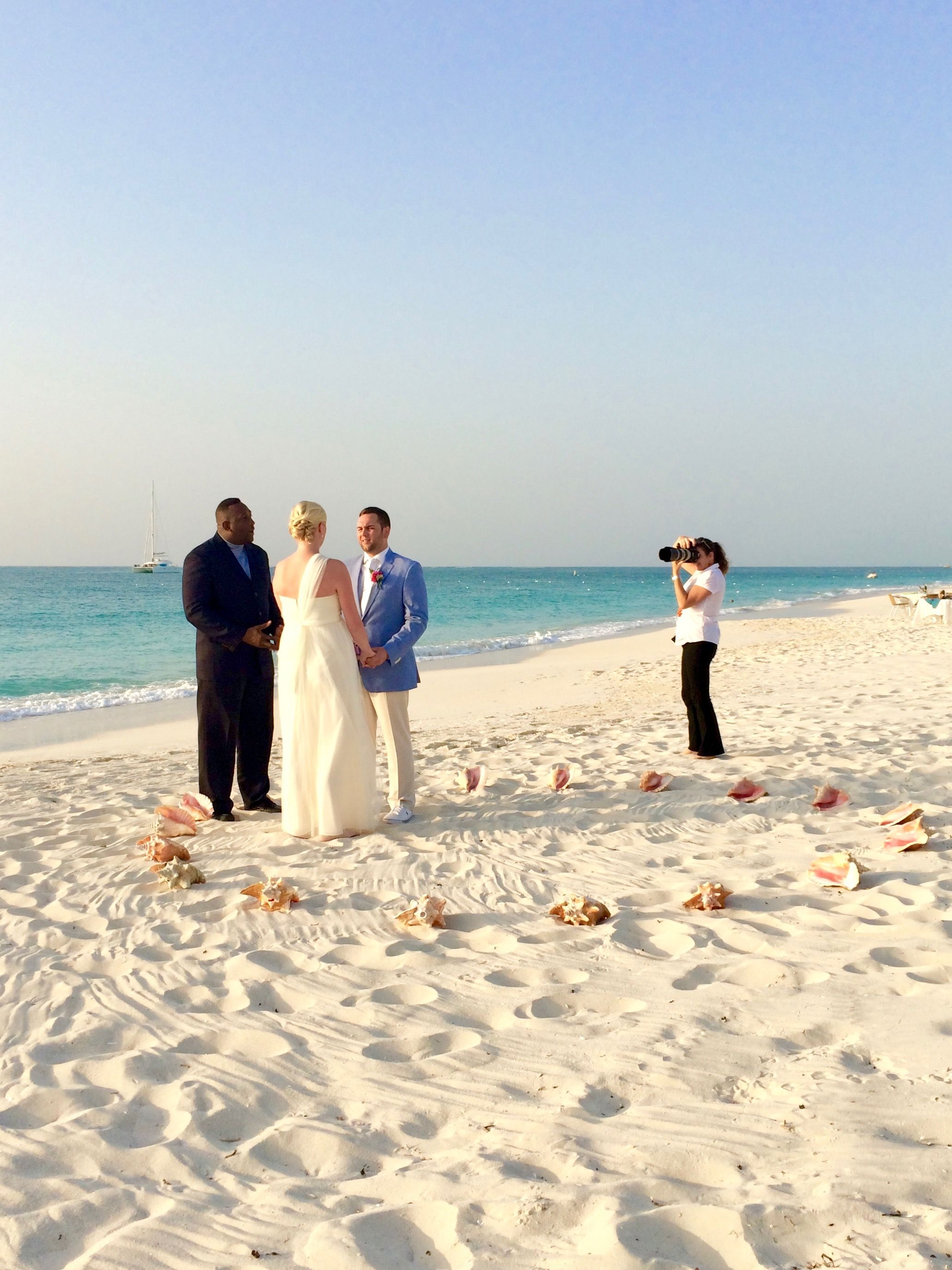 An Intimate Ceremony On Grace Bay Beach Alexandra Resort Turks And
