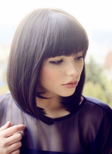 bob hair cut straight bangs | 25 Remarkable Hairstyles – Long Hair with Bangs pictures
