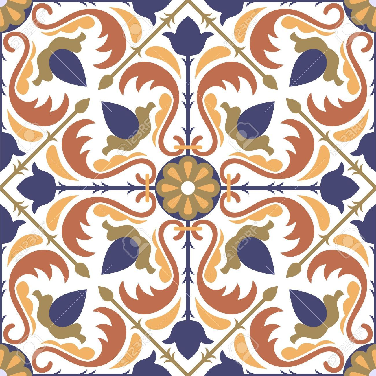 Vector of moroccan tile seamless pattern tile for design tile - Illustration Of Colorful Arabic Style Tiles Seamless Pattern Vector Art Clipart And Stock Vectors