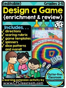 Create a game editable no prep hands on enrichment activities create a game editable no prep hands on enrichment activities this activity is great for early finishers or when you need something meaningful for an ibookread Download
