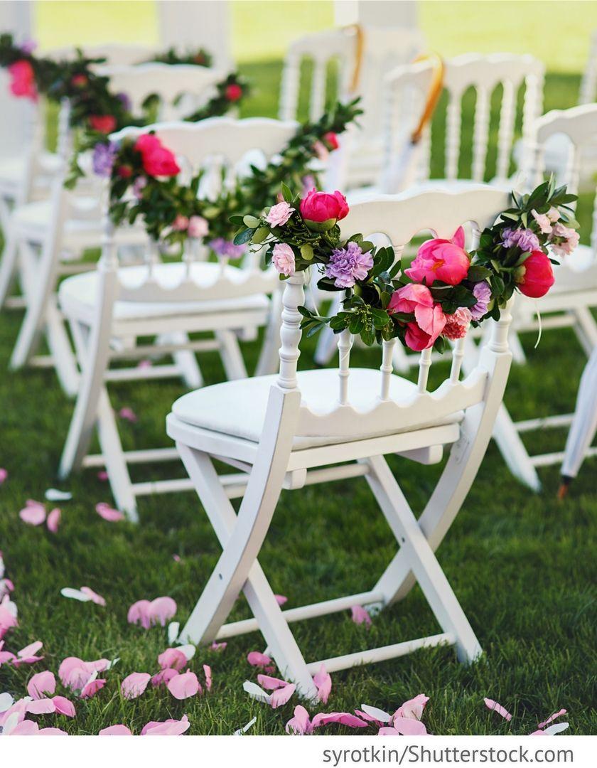 Dekoration Mit Blumen Fur Freie Trauung Fur Die Hochzeit Die