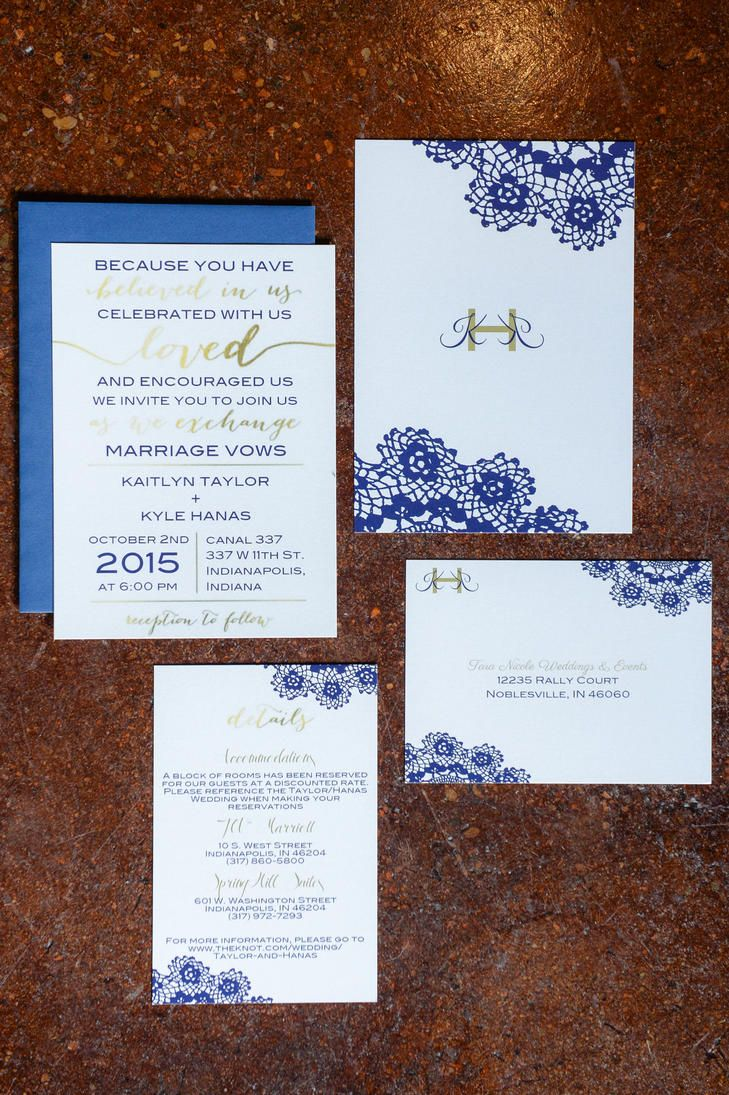 Gold And Blue Stationary Wedding Stationery Pinterest