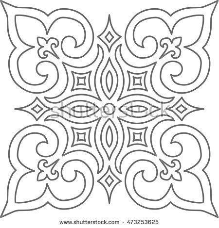 Embroidery Archives Craft Patterns Geometric Islamic Pattern Arabesque Grey And White Archives Craft In 2020 Islamische Muster Arabisch Islamisches Muster