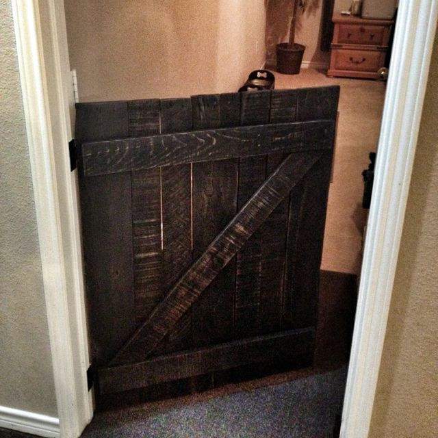 12 Diy Old Pallet Stairs Ideas: My Own DIY Pet Gate Made From Reclaimed Pallet Wood