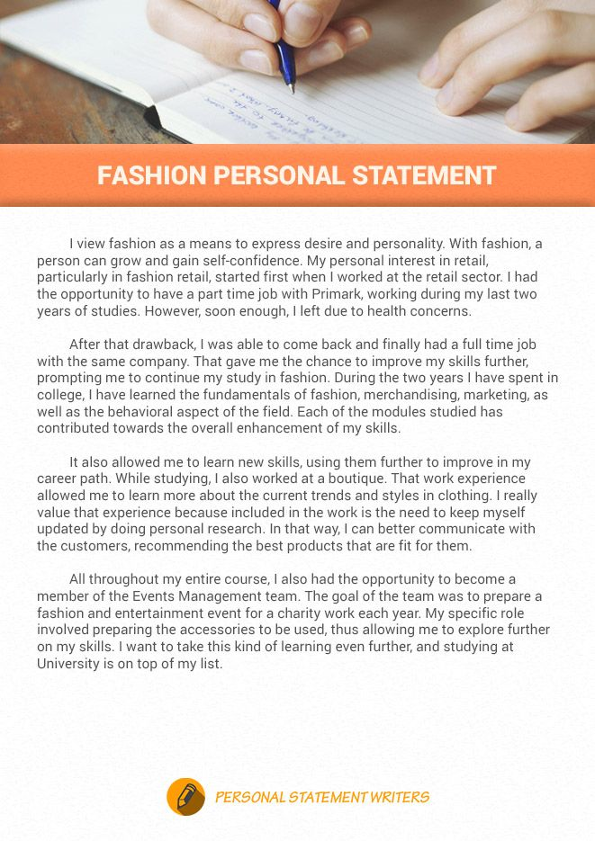 If You Want To Write Good Fashion Personal Statement Click The Link Below To Get N Personal Statement Examples Personal Statement Midwifery Personal Statement