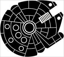 Millenium Falcon Star Wars Vinyl Decal Star Wars Stencil Star Wars Quilt Star Wars Painting
