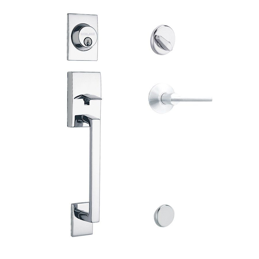 Front entry door handles - Schlage Century Latitude Residential Single Lock Front Door Handleset Lowe S Canada