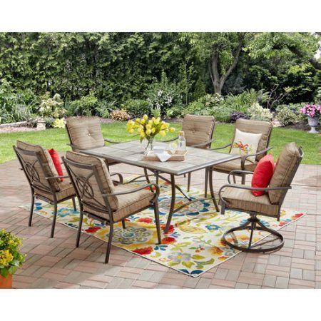 Patio Garden Patio Furniture Sets 7 Piece Dining Set Dining