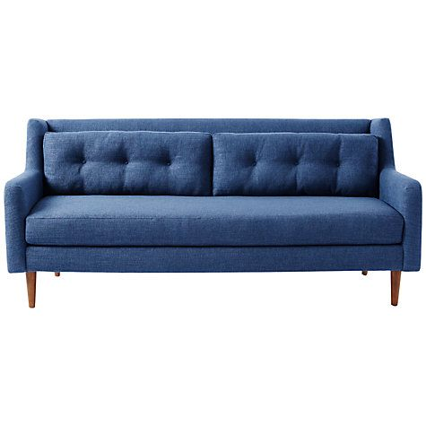 Contemporary Buy west elm Crosby 2 Seater Loveseat Aegean Blue from our View All Sofas range at John Lewis Free Delivery on orders over Modern - Review 2 seater sofa Idea