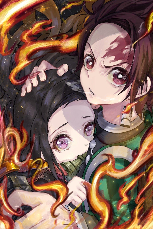 Tanjirou and Nezuko trong 2020 Anime, Phim hoạt hình, Quỷ
