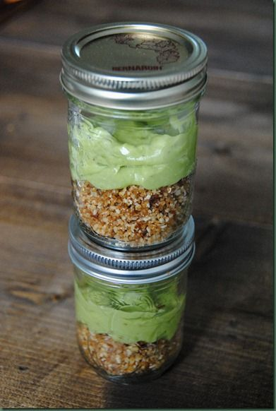 healthy key lime pie in a jar
