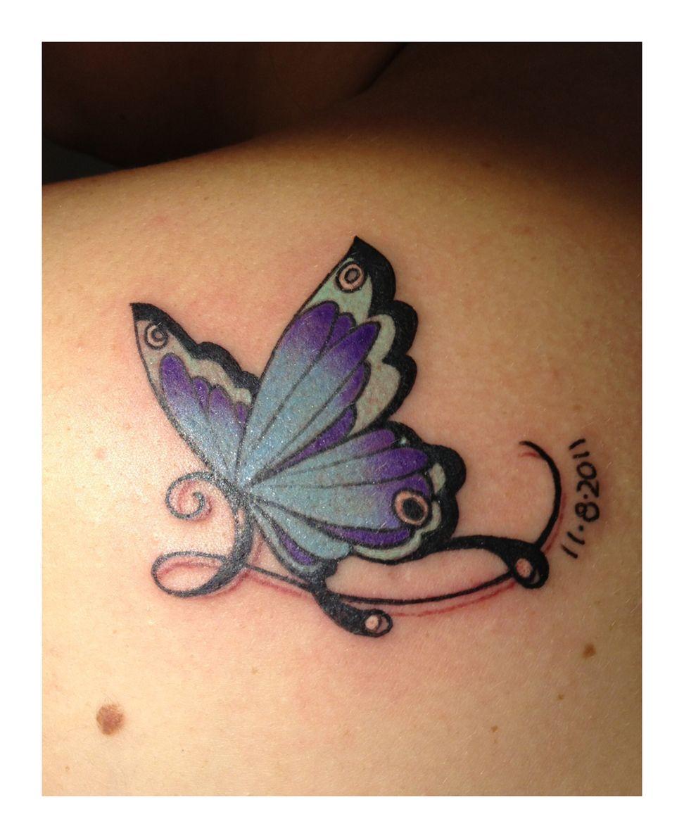 Find butterfly tattoos purple butterfly tattoo books for Purple butterfly tattoo