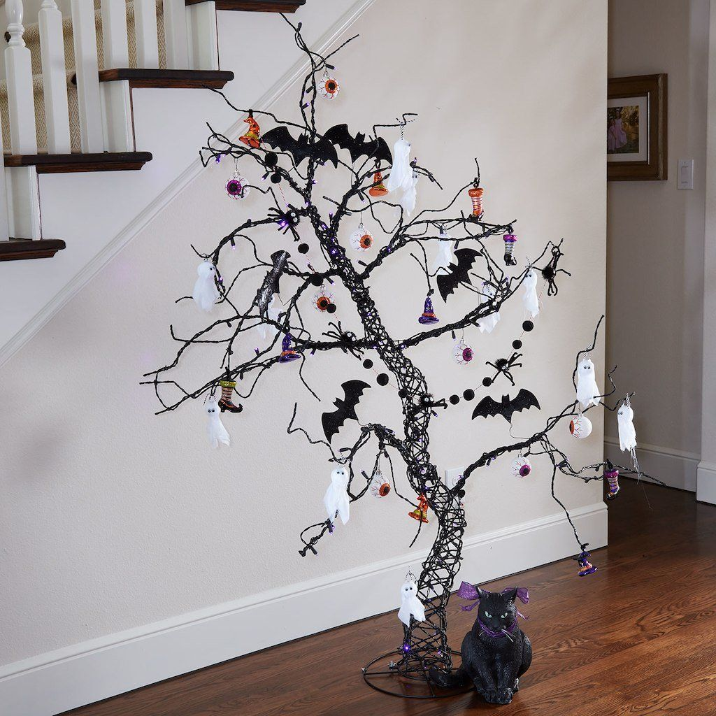 This DIY Whimsy Halloween Glitter Tree is easy to make and adds a - halloween decorations for the office