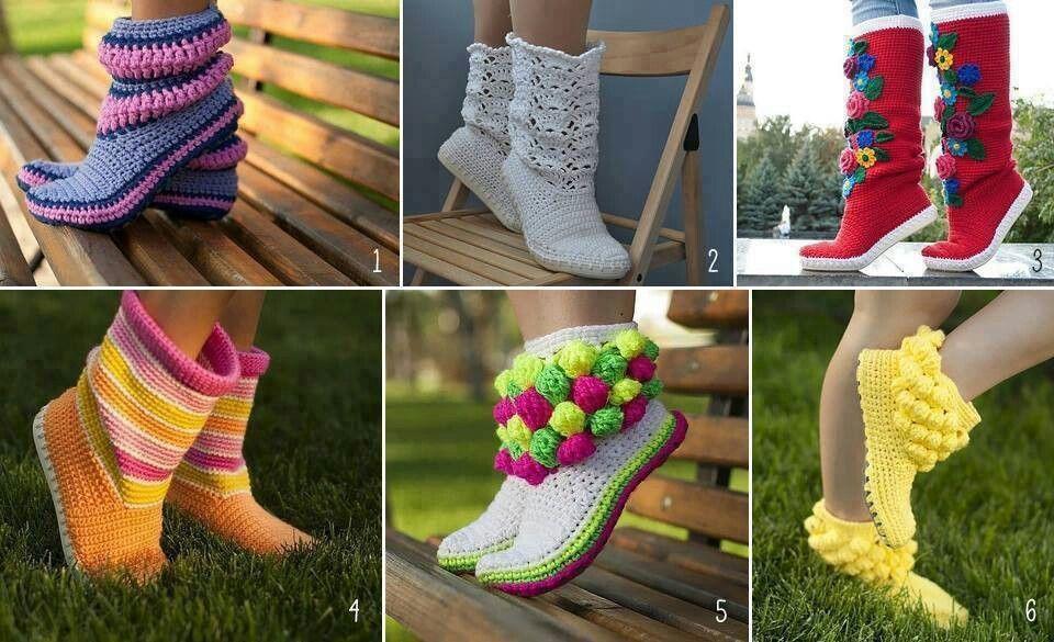 Botitas | zapatos tejidos | Pinterest | Botas, Botas tejidas y ...