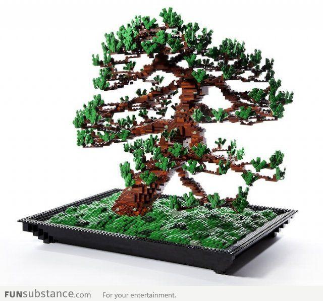 Lego Bonsai Tree By Makoto Azuma Funsubstance Lego Tree Bonsai Tree Bonsai Making