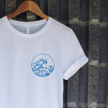 45d03a2d62b The Great Wave Shirt in White