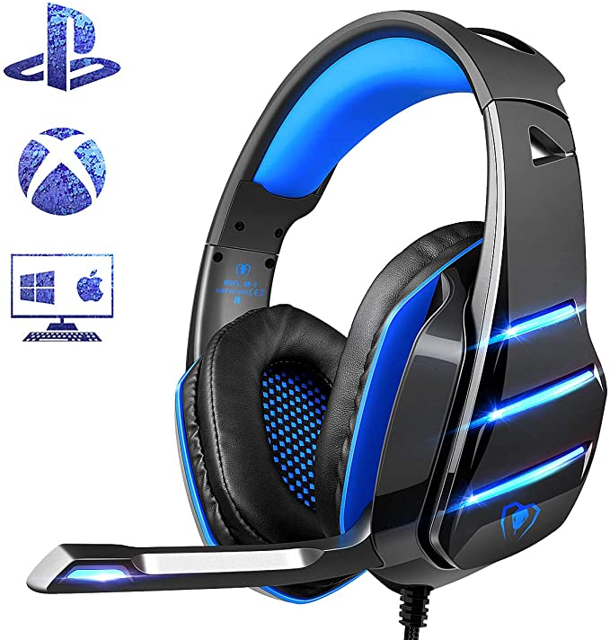 Ps4 Gaming Headset With Mic Beexcellent Newest Deep Bass Stereo Sound Over Ear Headphone With Noise Isola Over Ear Headphone Gaming Headset Ps4 Gaming Headset