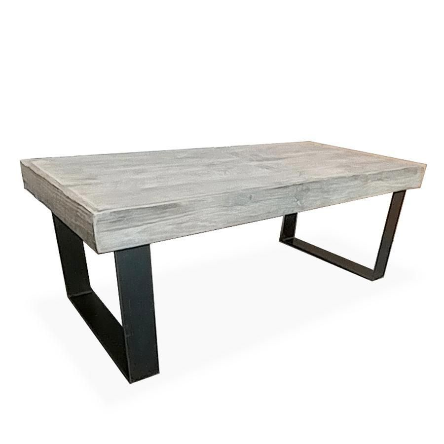 White Wash Gel Stain: White Oak Light Wood And Metal Coffee Table, Tube Steel