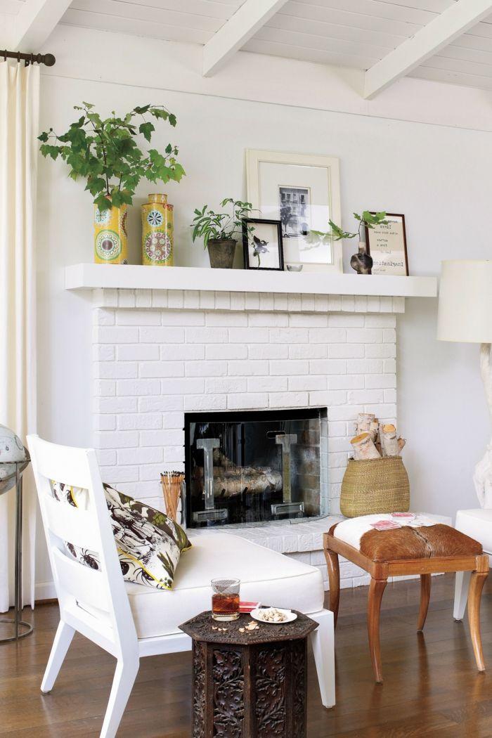 1001 ideas sobre c mo decorar una chimenea en 85 - Chimeneas para decorar ...