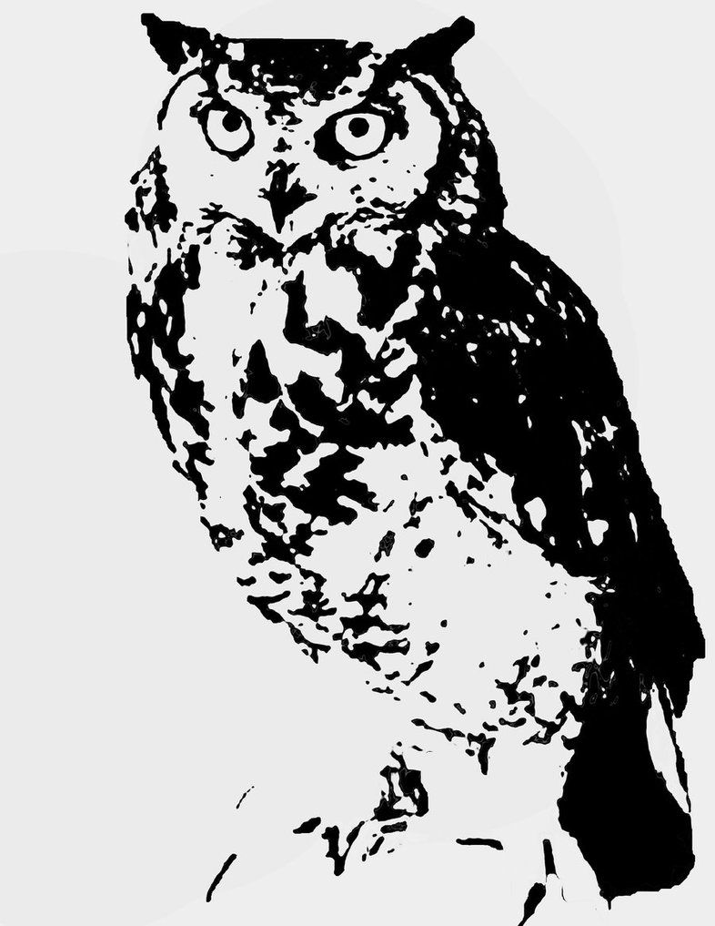 Owl Stencil by WingedKobraTheThird | Art ideas | Pinterest | Owl ...