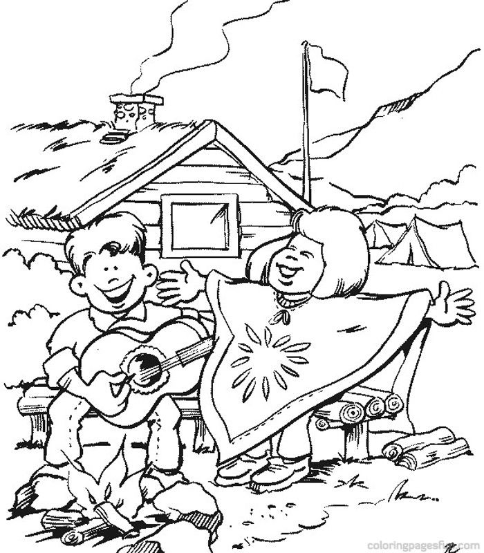 Scouting Coloring Pages 10 - Free Printable Coloring Pages