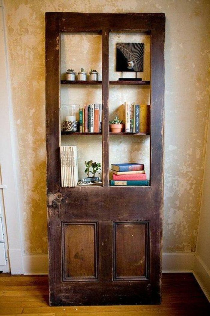 Lieblich Alte Tür Deko Braue Tür Wie Bücherregal Beige Wände | DIY Ideen | Pinterest  | Alte Türen, Türen And Alter