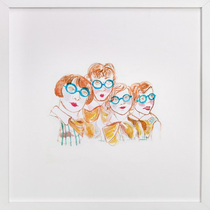Glasses Girls by June Letters Studio at minted.com