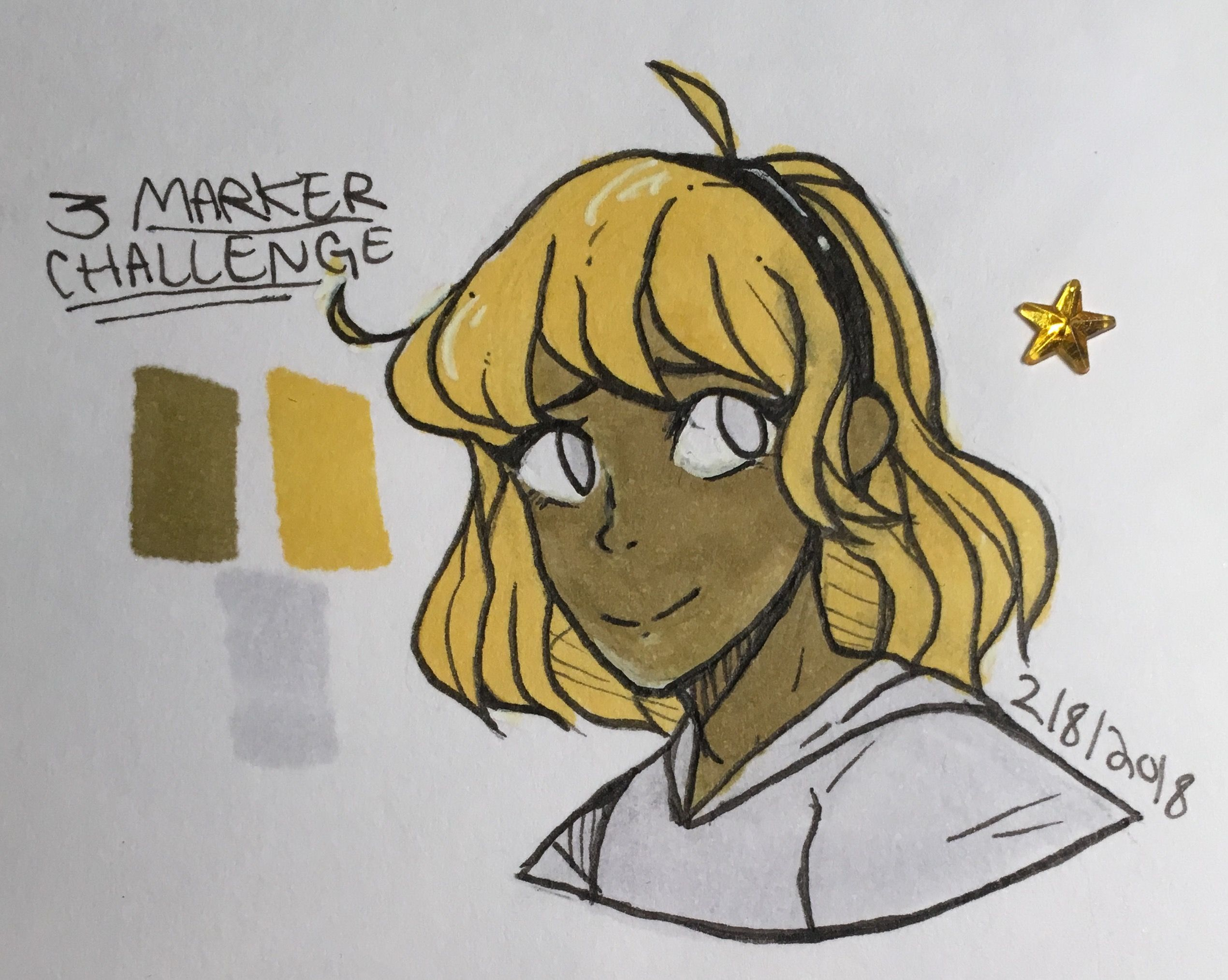 I Wanted To Do A Three Marker Challenge And Draw A Person So Here