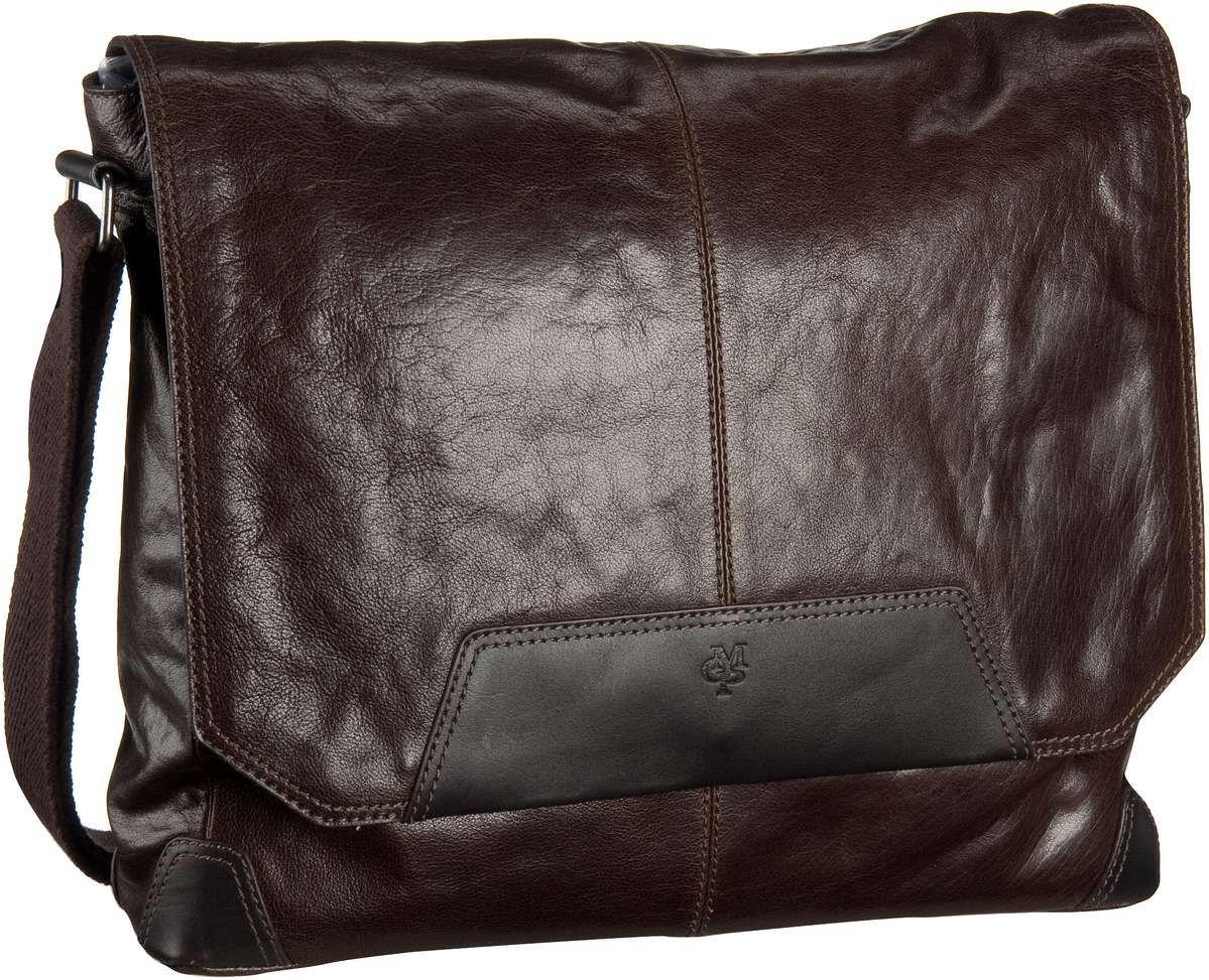 Marc O´Polo Postbag M Oily Buffalo Vaccheta Dark Brown - Umhängetasche