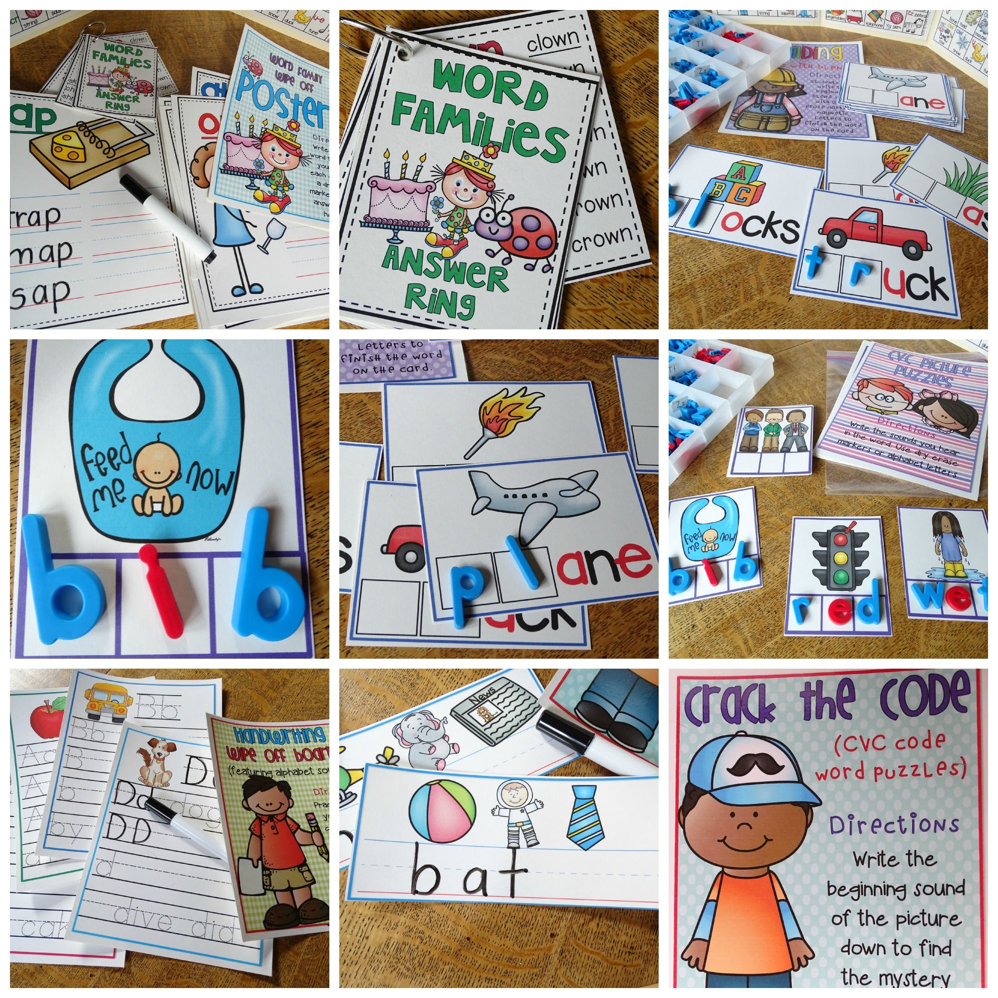 Word Work And Phonics Activities 10 Grab And Go