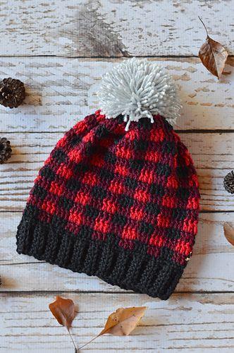 Plaid Slouchy Hat Pattern By Bethany Dearden Pinterest Crochet