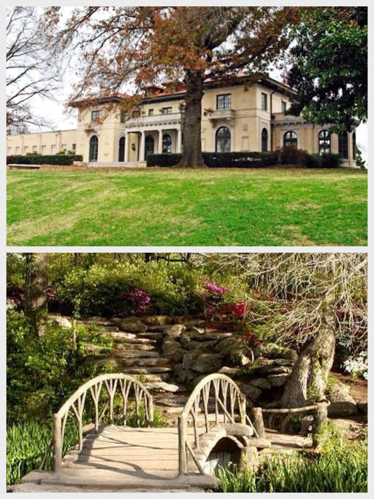 Top: Tulsa Garden Center. Bottom: Woodward Park Bridge. Woodward Park  Spreads Over