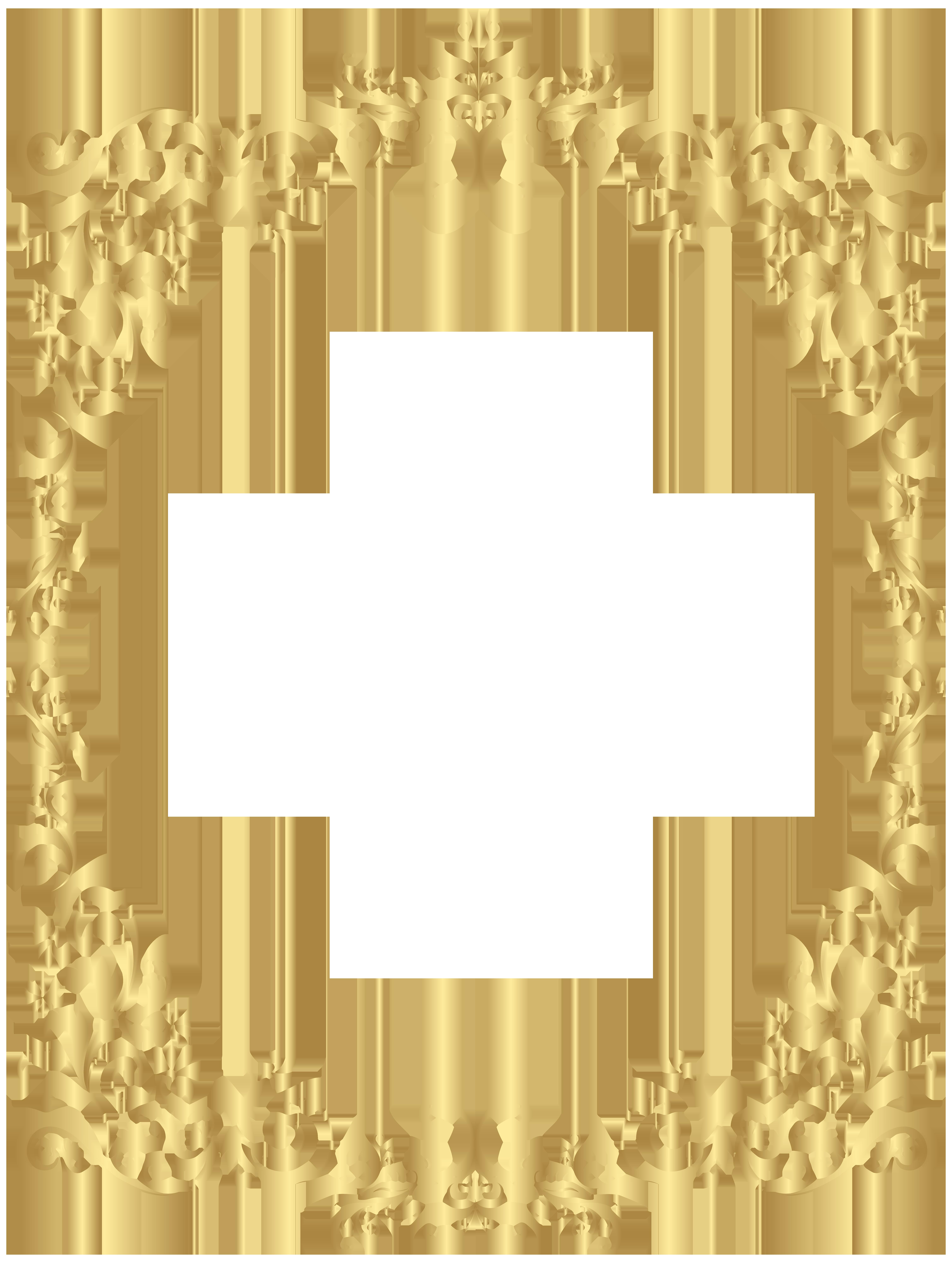 Border Gold Decorative Frame Png Clip Art Gallery