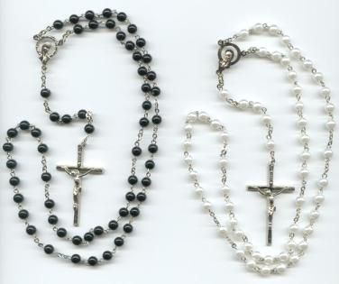 Homemade Rosaries or Prayer Beads. Made with love in my own home.