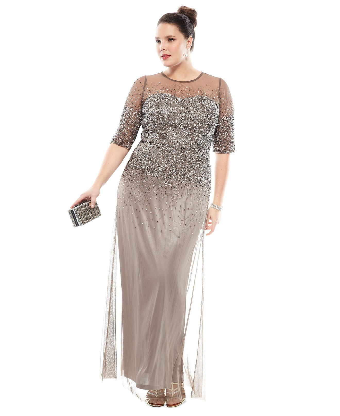 The Dress Diaries Plus Size Beaded Formal Dress Look - Plus Size ...