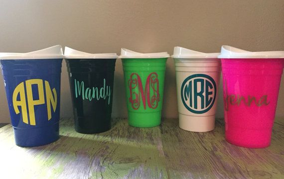 personalized solo cups monogrammed solo cups double walled solo