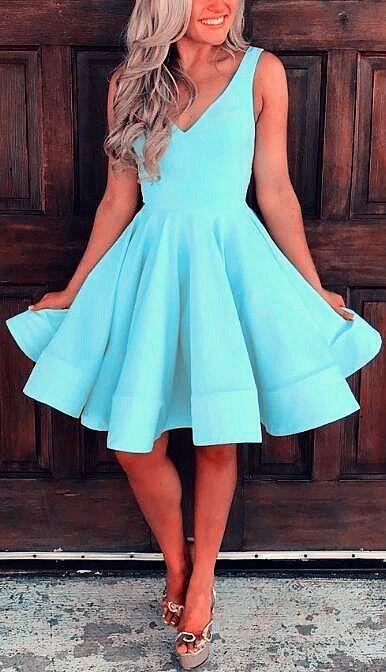 light blue homecoming dresses,semi formal dress,sh
