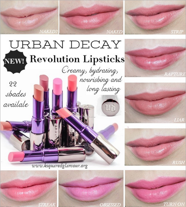 NEW @Ashley Walters Walters Walters Walters Walters Urban Decay Revolution Lipsticks! They are creamy, hydrating, nourishing, long lasting, pigmented and come in wearable shades!