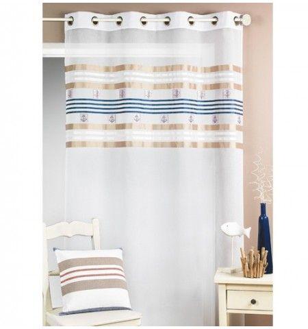 voilage tamine marin bord de mer pinterest voilages marins et couvertures. Black Bedroom Furniture Sets. Home Design Ideas
