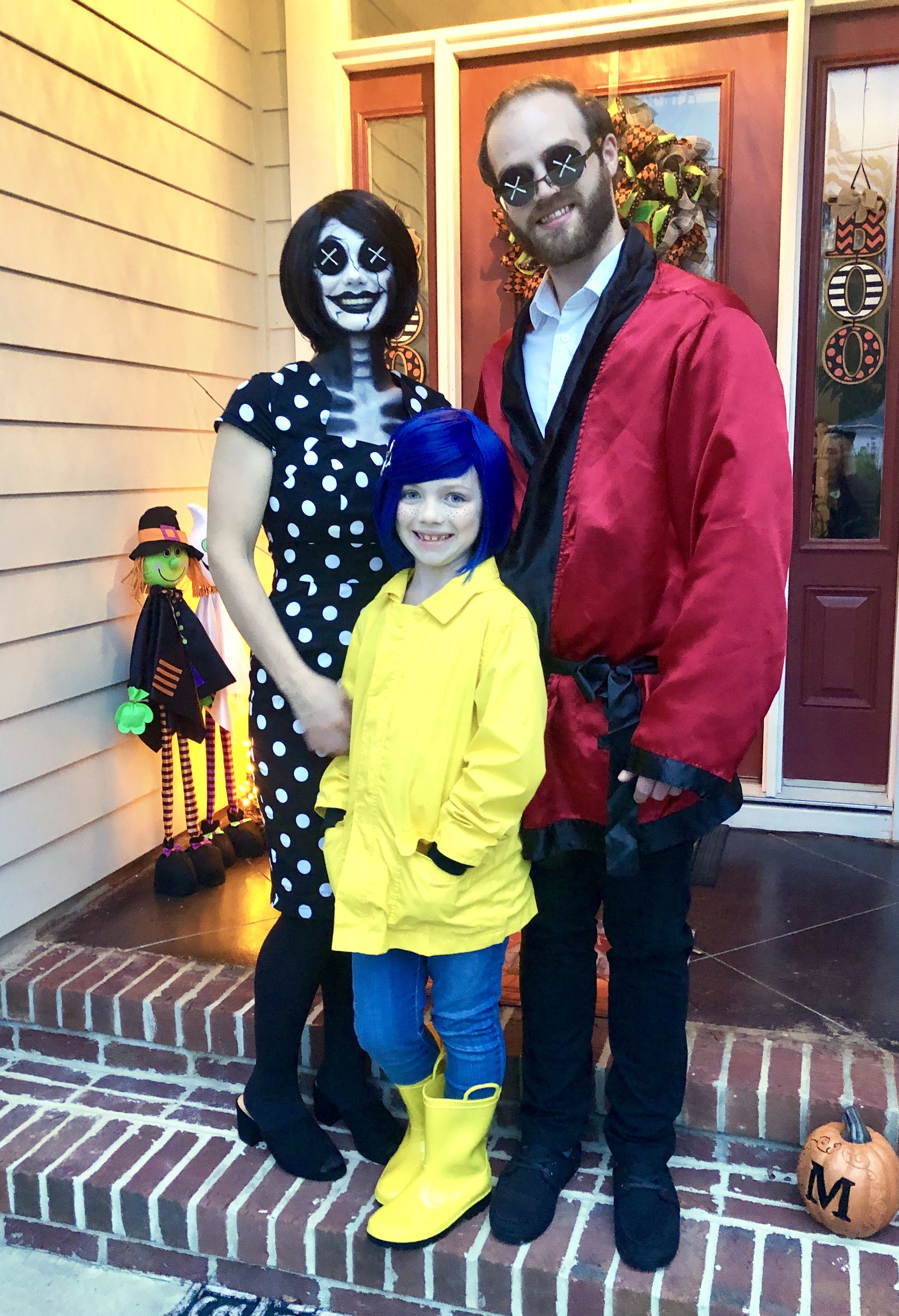 Coraline Other Mother Other Father Family Halloween Costume Coraline Halloween Costume Family Halloween Costumes Family Halloween