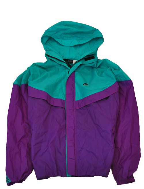 Teal purple NIKE windbreaker jacket  33e42df618a