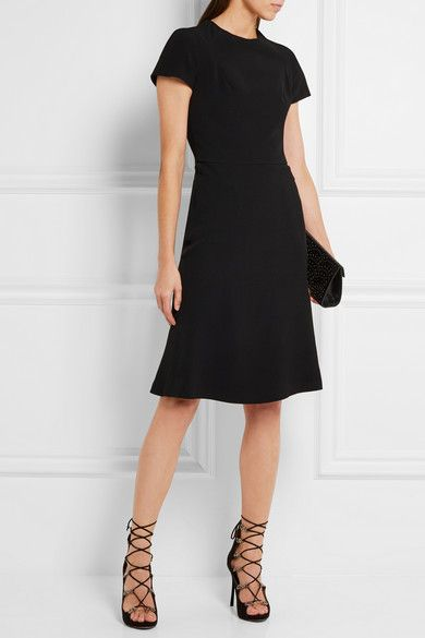 Black cady Concealed hook and zip fastening at back 100% viscose; lining: 100% silk Dry clean Made in Italy