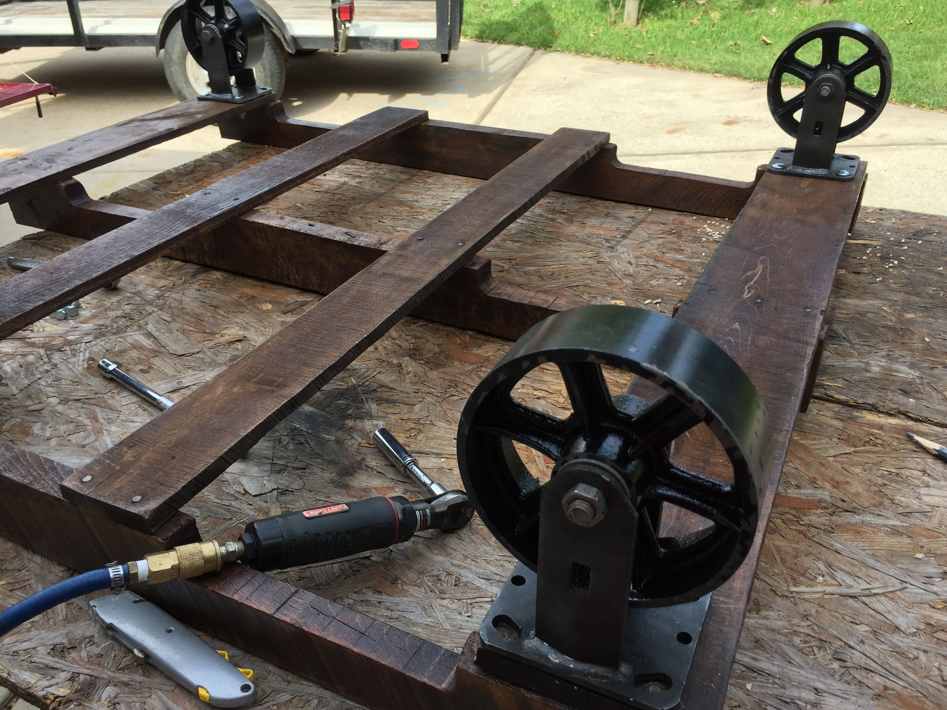 industrial furniture wheels. The Makings Of An Industrial Furniture Piece, From A Reclaimed Pallet And Vintage Casters Wheels C