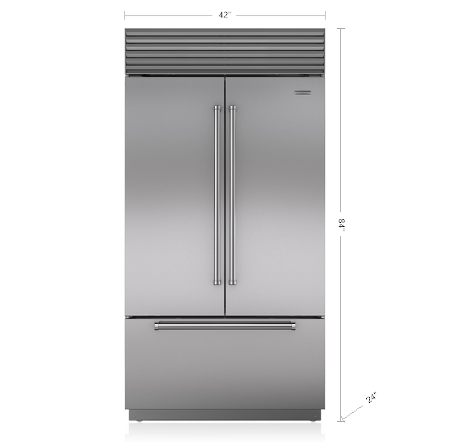 42 Classic French Door Refrigerator Freezer With Internal Dispenser With Images French Door Refrigerator French Doors Built In Refrigerator